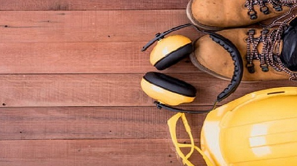 safety equipment on wooden.